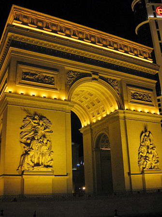 Arc de Triomphe in Paris Hotel in Las Vegas