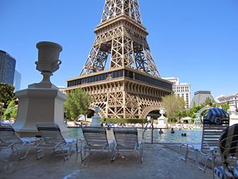 Paris hotel zwembad in Las Vegas