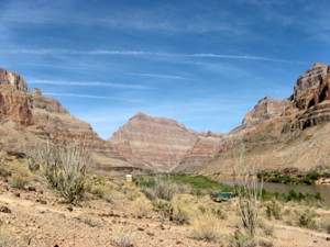 Grand Canyon blauwe lucht