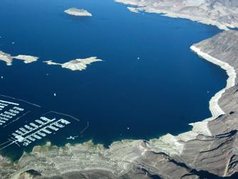 Lake Mead uitzicht vanaf lucht