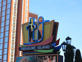 Treasure Island billboard