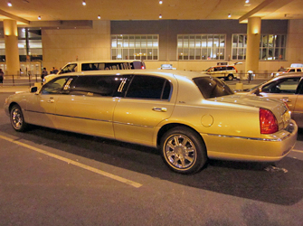limo bij vliegveld in Las Vegas