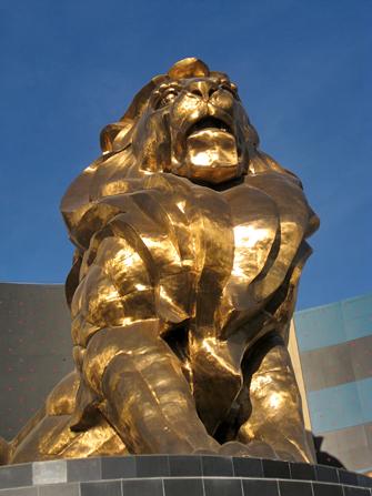 MGM leeuw in Las Vegas