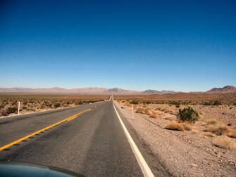 op weg naar Death Valley