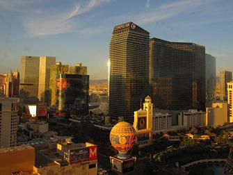 uitzicht naar Cosmopolitan in Las Vegas