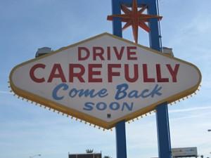 voorzichtig rijden in Las Vegas