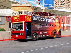 Big bus hop on hop off bus in Las Vegas