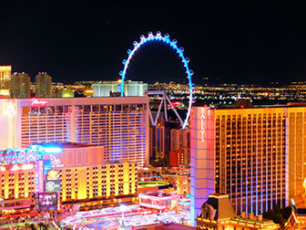 The LINQ High Roller in Las Vegas - Nacht