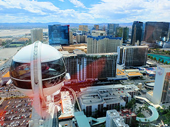 The LINQ High Roller in Las Vegas - Uitzicht